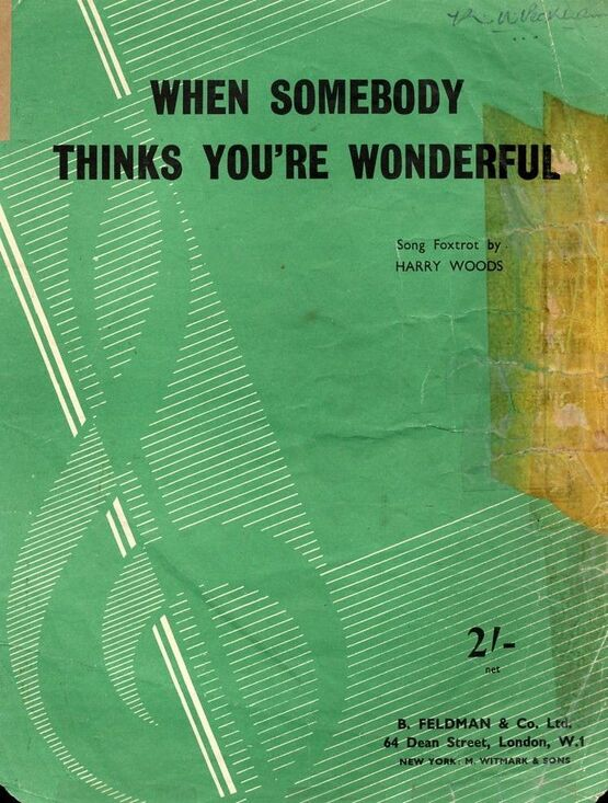 4 | When Somebody thinks You're Wonderful