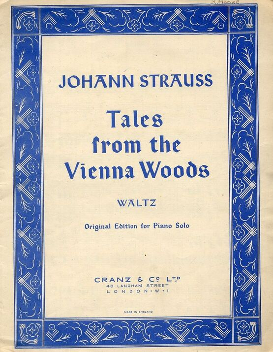 400 | Tales from the Vienna Woods - Waltz - Original Edition for Piano Solo
