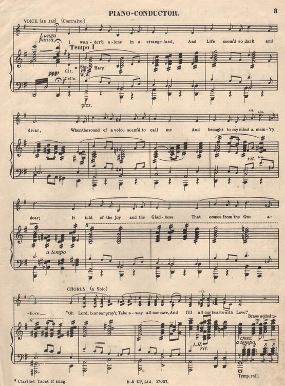 406 | 'Sanctuary of the Heart' - Meditation religieuse, with Solo voice and Chorus ad lib. - [1924]