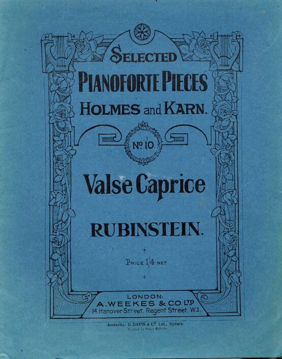 419 | Rubinstein - Valse Caprice - Selected Pianoforte Pieces Holmes and Karn No. 10 - Piano Solo