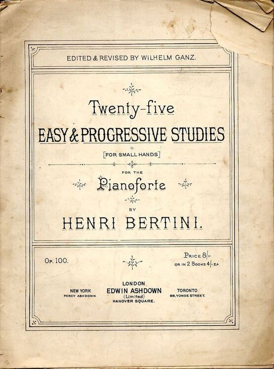 4282 | 25 Easy and Progressive Studies for small hands - Op. 100