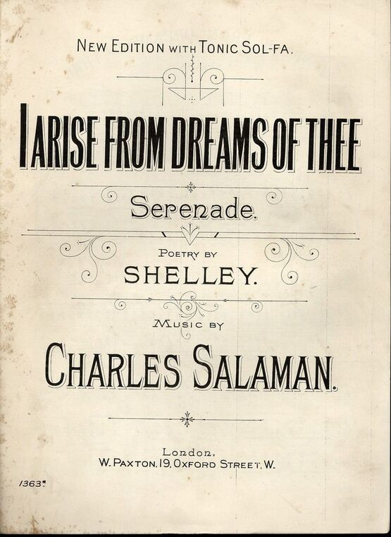 4282 | I Arise from Dreams of Thee - Serenade - New Edition with Tonic Sol Fa