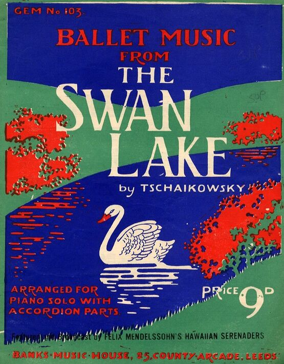 4443 | Ballet Music from the Swan Lake - Arranged for Piano Solo with Accordion Parts - Gem Series No. 103