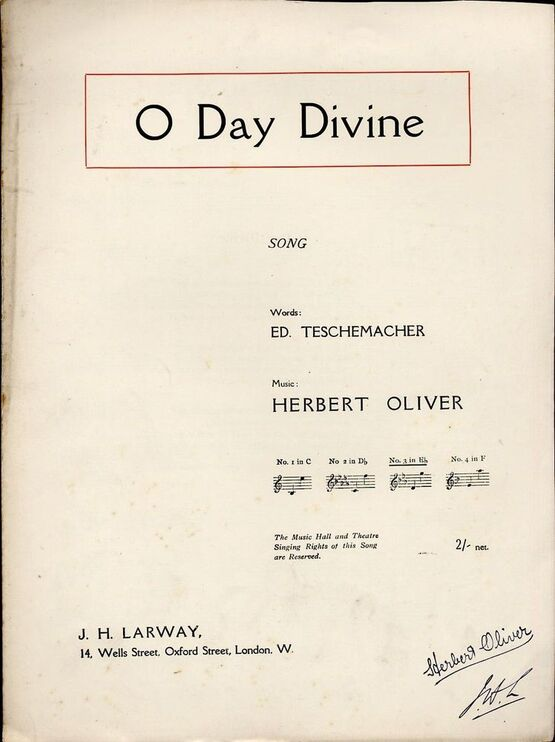 4469 | O Day Divine - Song - In the key of E flat major