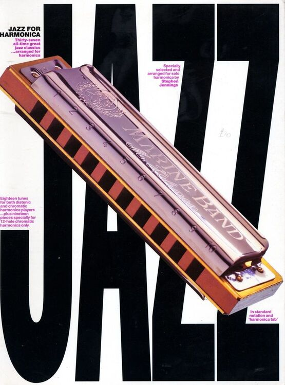 4507 | Jazz for Harmonica - Thirty Seven all-time great jazz classics arranged for Harmonica