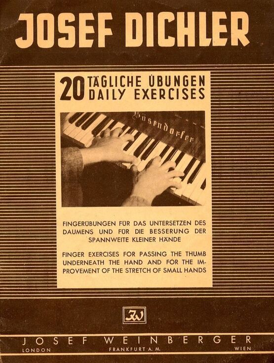 4580 | 20 Daily Exercises - Finger Exercises for Passing the Thumb underneath the hand and for the improvement of the stretch of small hand - For Piano