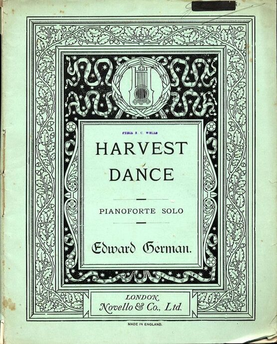 4582 | Harvest Dance from ''The Seasons'' suite for Full Orchestra - Reduction for Pianoforte Solo - Composed for the Norwich Musical Festival