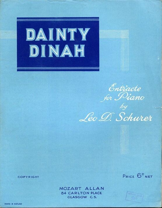 4626 | Dainty Dinah - Entr'acte for Piano