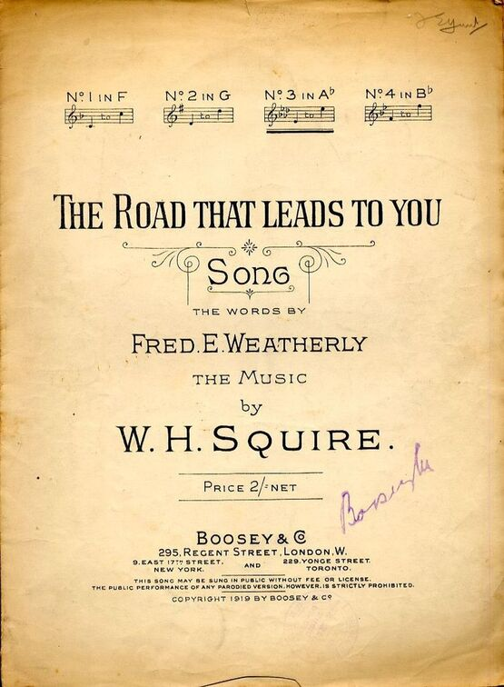 4656 | The Road That Leads To You - Song in the key of A flat major
