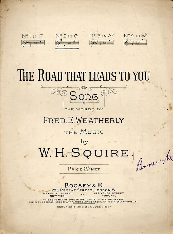 4656 | The Road That Leads To You - Song in the key of G major