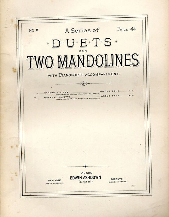 4672 | A Series of Duets for Two mandolines with Pianoforte accompaniment - No. 2