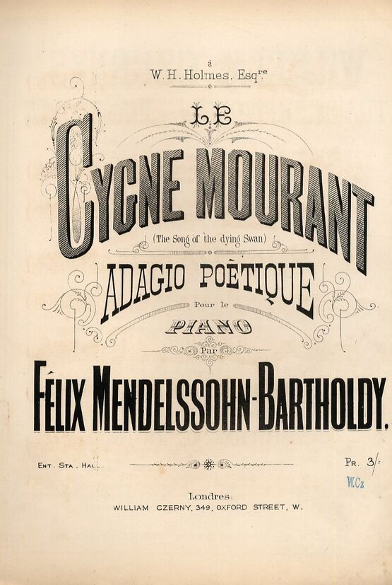 Cygne Mourant for piano