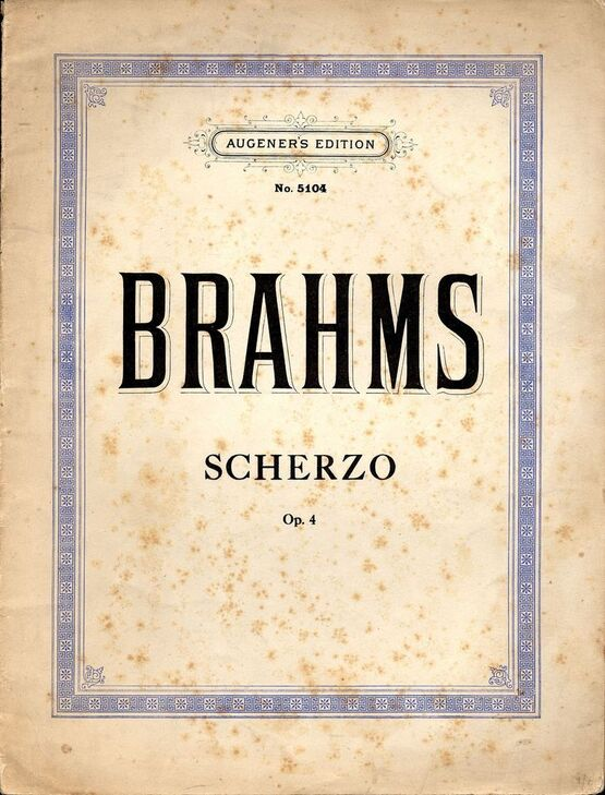 4696 | Scherzo - Op. 4 - Augeners Edition No. 5104 - For Piano Solo