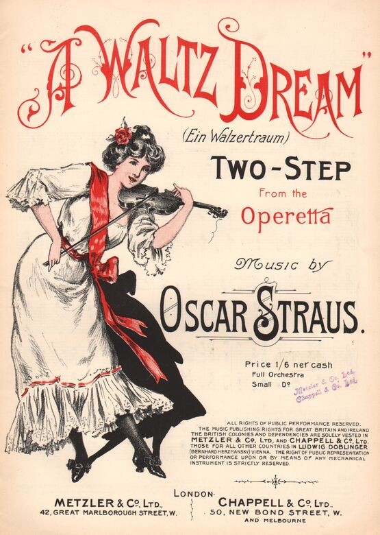 4714 | A Waltz Dream - Two-Step from the Operetta - Piano Solo