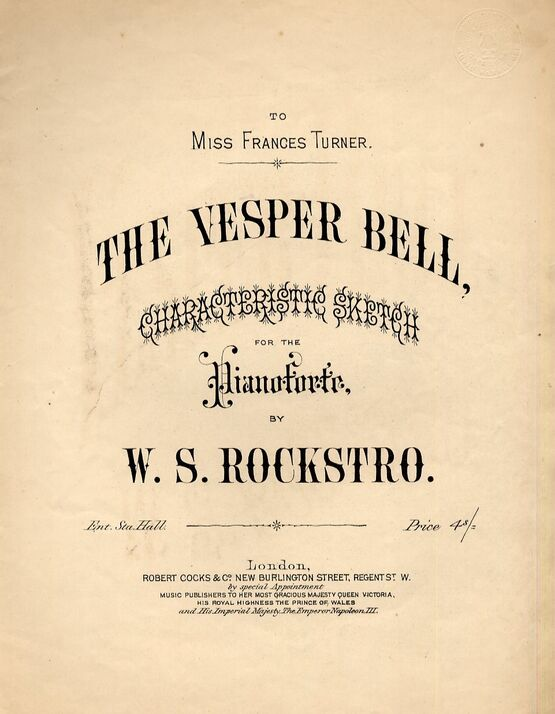 4763 | The Vesper Bell - Characteristic Sketch for Pianoforte