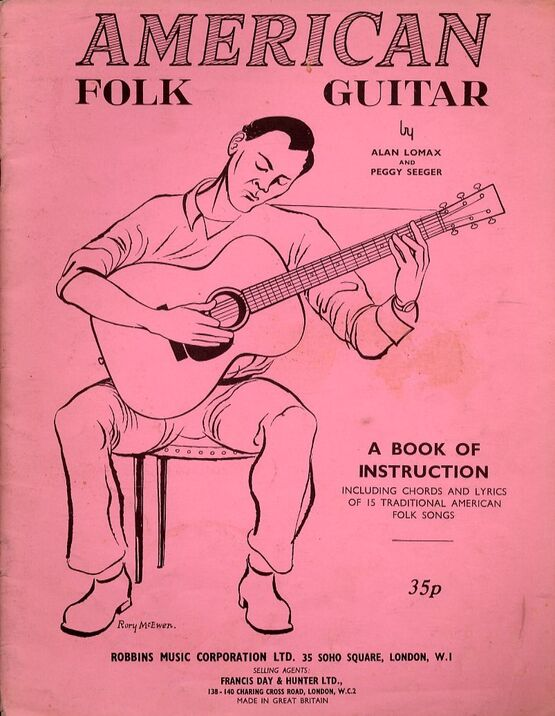 4860 | American Folk Guitar - A Book of Instruction including Chords and Lyrics of 15 Traditional American Folk Songs