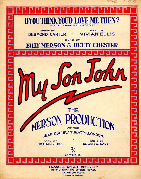 4861 | D'You Think You Love Me Then? - A Flat Charleston song - From the Merson production of 'My Son John'