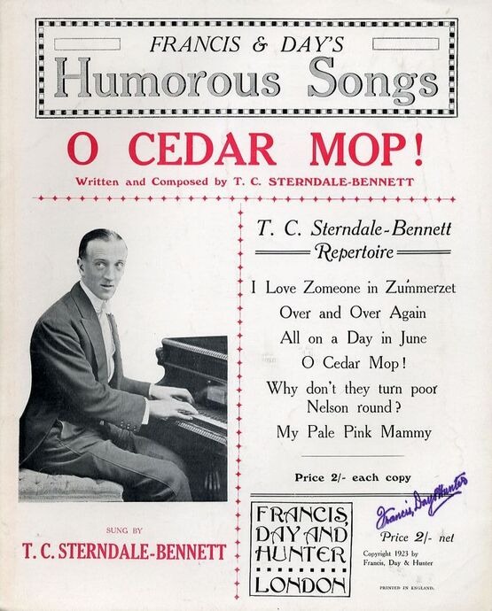 4861 | O Cedar Mop! - Sung by T. C. Sterndale Bennett - Franics and Days Humorous Songs series