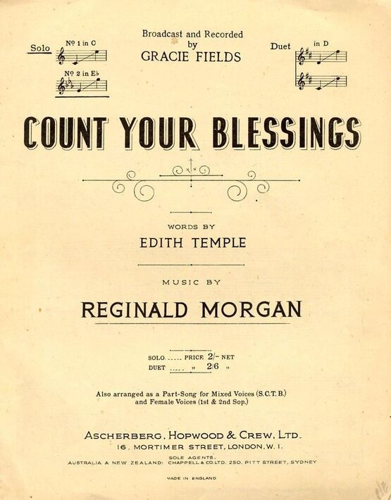 4895 | Count Your Blessings - In the Key of E flat major