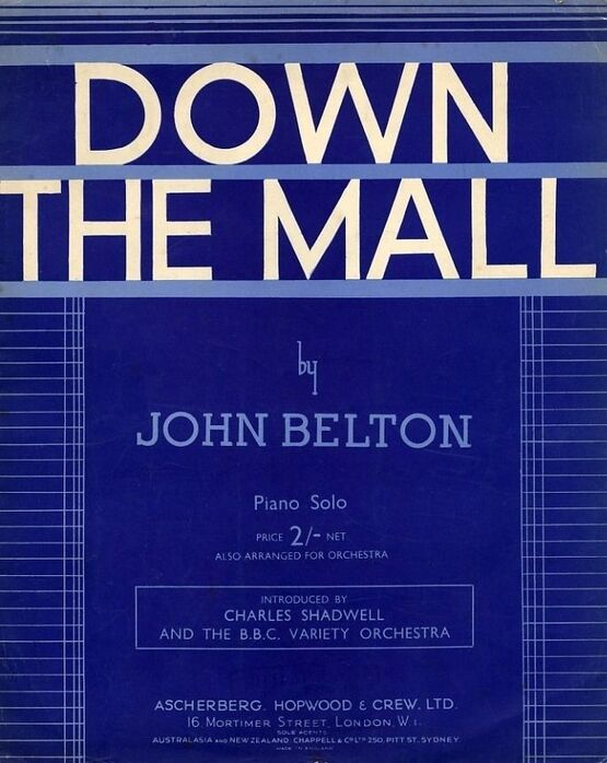 4895 | Down the Mall - Piano solo - introduced by Charles Shadwell and the B.B.C. Variety Orchestra