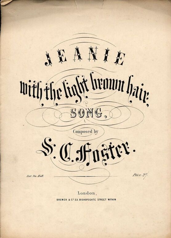 4926 | Jeanie with the Light Brown Hair  - Song- In the key of F major