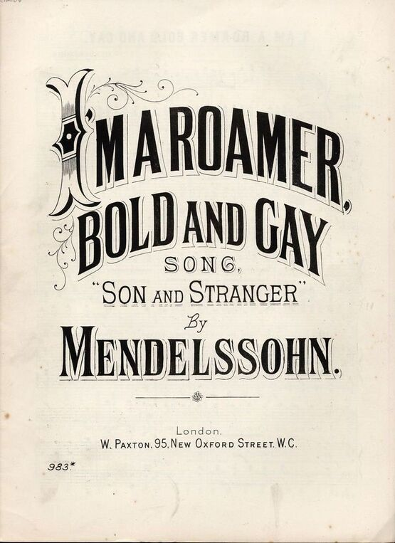 5 | I Am A Roamer Bold and Gay - Song
