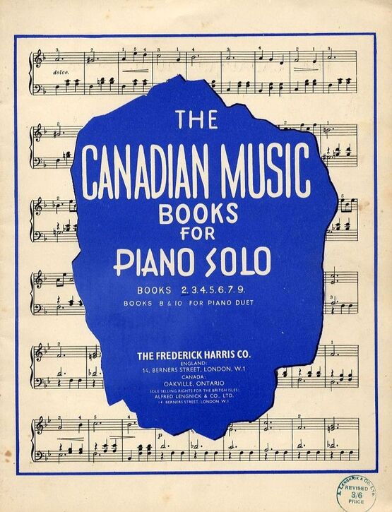 5002 | Easy Pieces for The  Piano - First Grade - The Canadian Music Books for Piano Solo - Series No.2