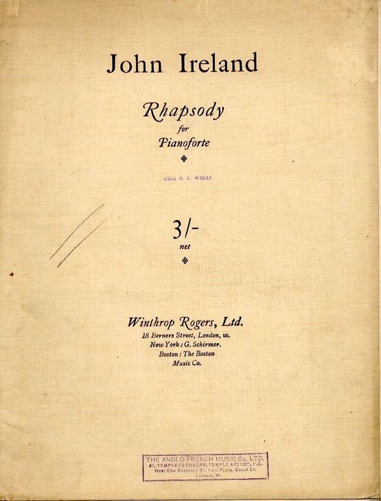 5026 | Ireland - Rhapsody for Pianoforte
