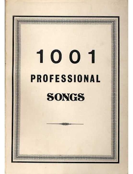 1001 Professional Songs - Melody with Words and Chord Symbols only ...