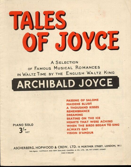 5167 | Tales of Joyce - A Selection of Famous Musical Romances in Waltz Time by the English Waltz King