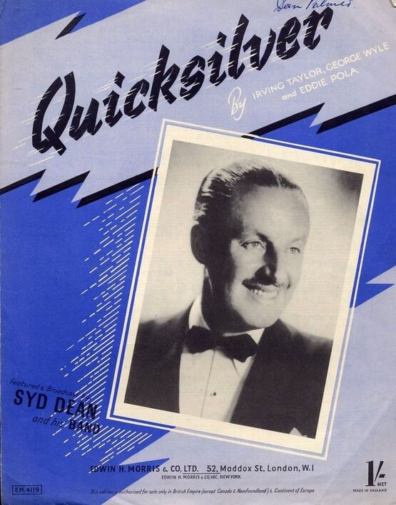 5263 | Quicksilver - Song - Syd Dean, The Five Smith Brothers