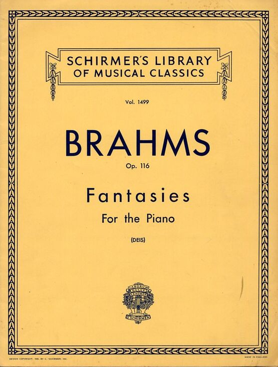 5273 | Fantasies - Op. 116 for the Piano - Schirmer's Library of Musical Classics - Vol. 1499