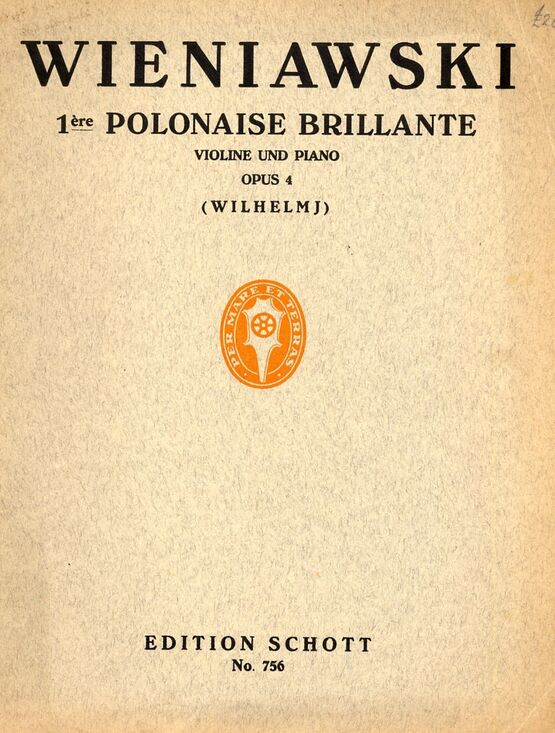 5320 | 1re Polonaise Brillante - For violin and piano with seperate violin part