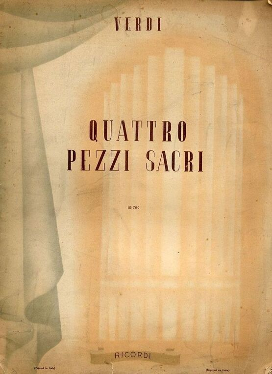5480 | Quattro Pezzi Sacri - Ricordi edition No. 101729 - For Piano and Mixed Voices
