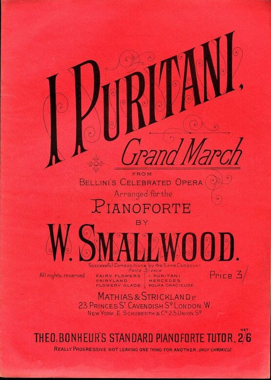 5631 | I Puritani - Grand March from Bellini's Celebrated Opera - Pianoforte