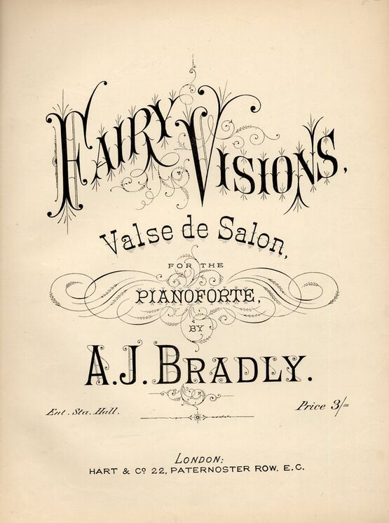 5632 | Hairy Visions, valse de salon for the pianoforte
