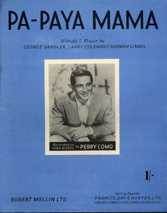 5855 | Pa-Paya Mama - Recorded on H.M.V. BIO595 by Perry Como