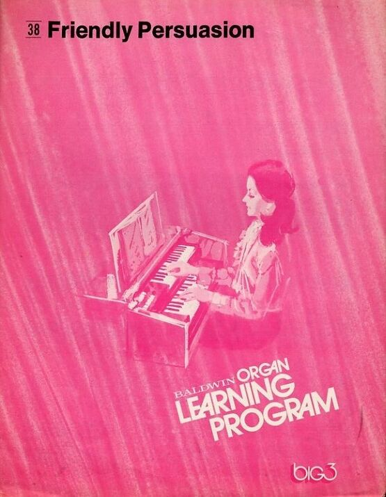 5932 | Friendly Persuasion, film title song -  Baldwin Organ Learning Program - No. 38