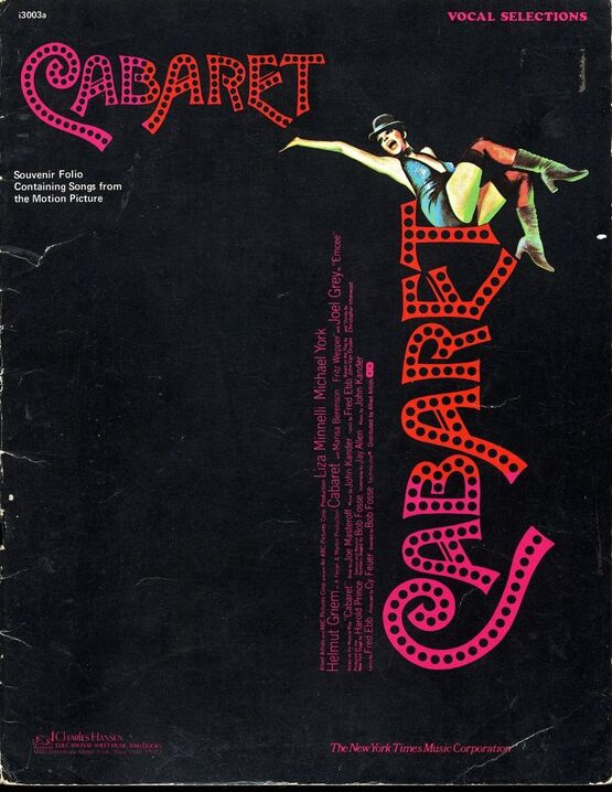 5978 | Cabaret - Vocal Selection souvenir folio containing Songs from the Motion Picture