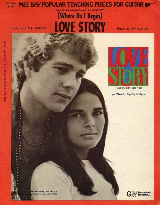 6096 | (Where Do I Begin) Love Story - Song from 'Love Story' Featuring Ali MacGraw and Ryan O'Neal - Guitar arrangement