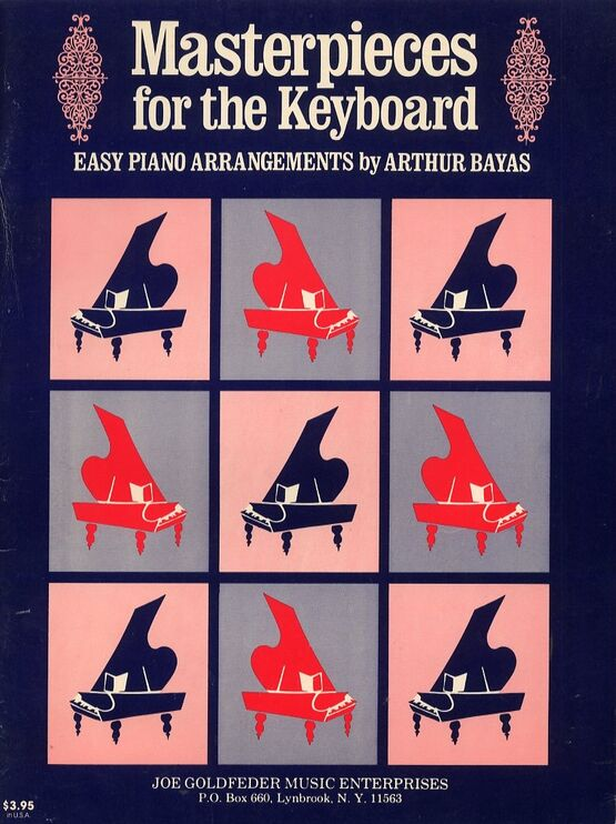 6175 | Masterpieces for The Keyboard - Easy Piano Arrangements by Arthur Davies