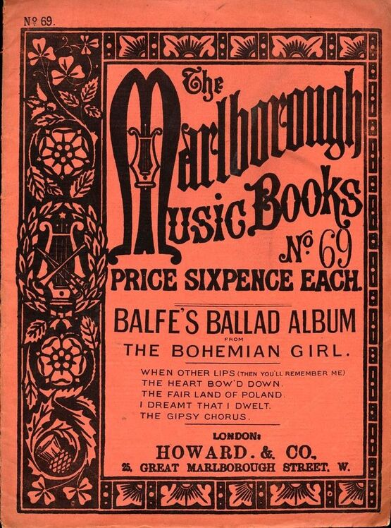 6309 | Balfe's Ballad Album from The Bohemian Girl - The Marlborough Music Books Series No. 69