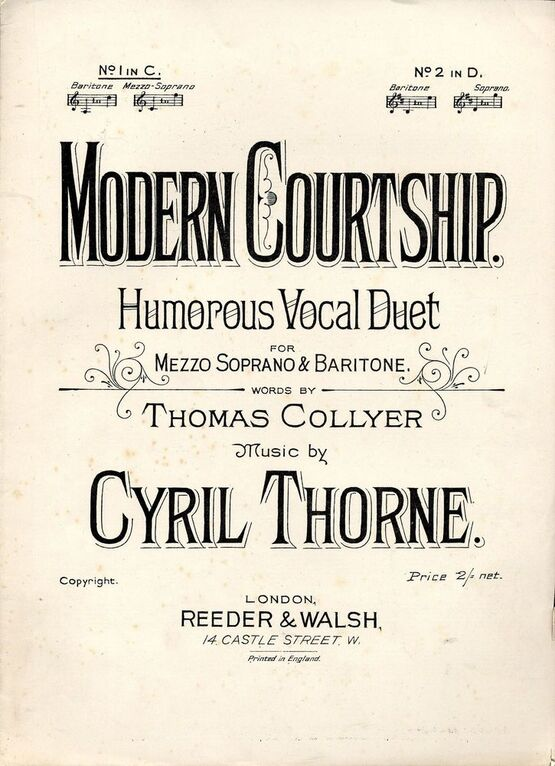 6321 | A Modern Courtship - Vocal Duet - In the key of C major for Baritone - Mezzo Soprano