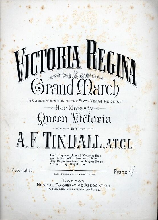 6468 | Victoria Regina, grand march in commemoration of her sixty year reign