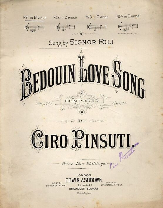65 | Bedouin Love Song - For Low Voice in the Key of B minor