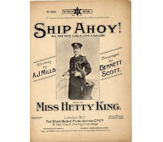 6544 | Ship Ahoy (All the Nice Girls Love A Sailor), sung by Miss Hetty King