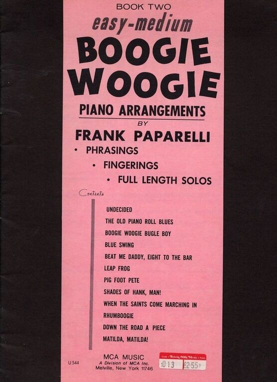 6657 | Easy Boogie Woogie Piano Arrangements. Book 2