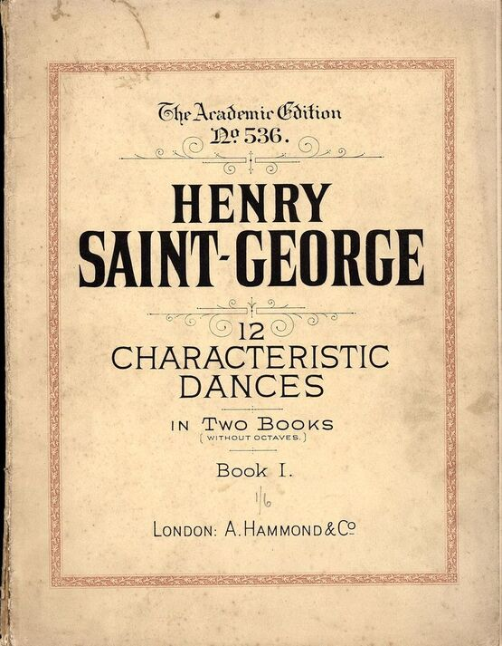 6925 | 12 Characteristic Dances In Two Books (without Octaves) - Book 1 - The Academic Edition No. 536