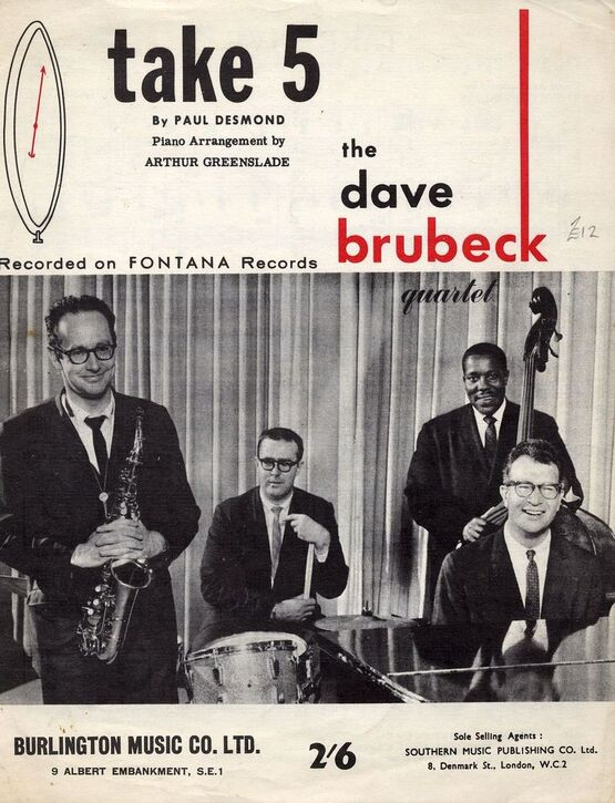 70 | Take 5 - Recorded on Fontana Records - Featuring The Dave Brubeck Quartet
