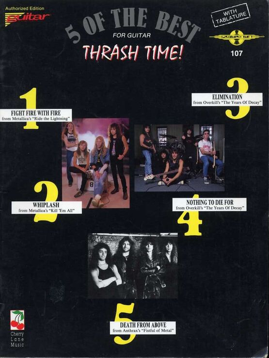 7138 | 5 of the Best for Guitar - Thrash Time! - With Tablature and Words
